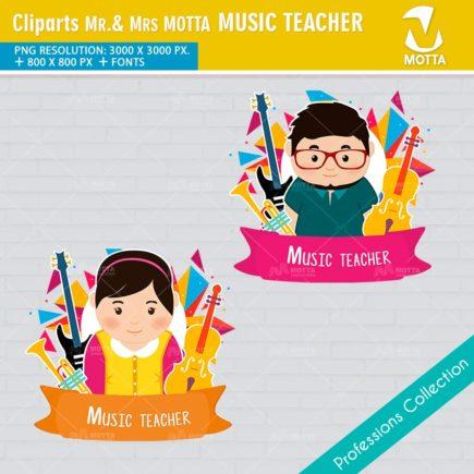 ClipArts Design Profession Music Teacher