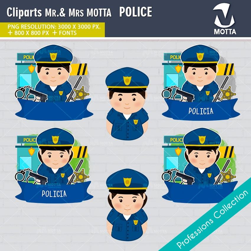 ClipArts Design Profession Police