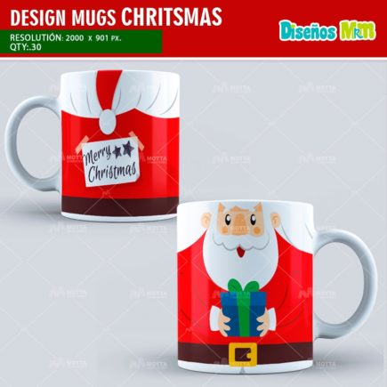 DESIGN FOR SUBLIMATION THE MUGS CHRISTMAS