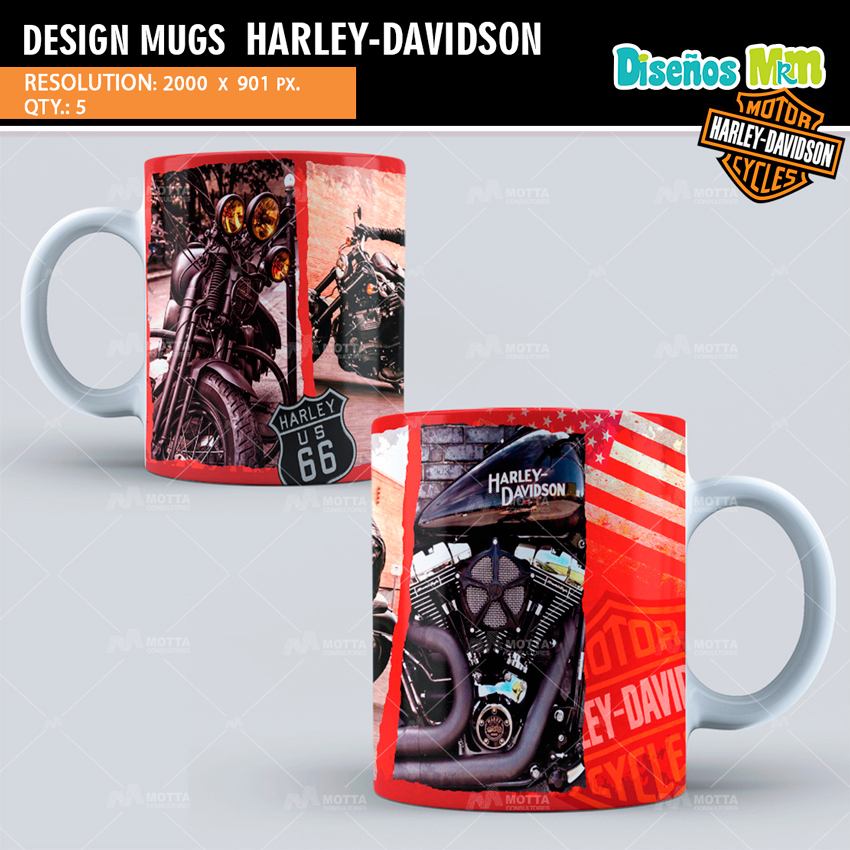 HARLEY DAVIDSON | DESIGN FOR SUBLIMATION THE MUGS