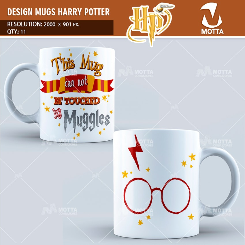 HARRY POTTER DESIGN FOR SUBLIMATION THE MUGS