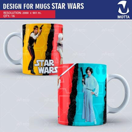 DESIGN FOR SUBLIMATION OF MUGS STAR WARS