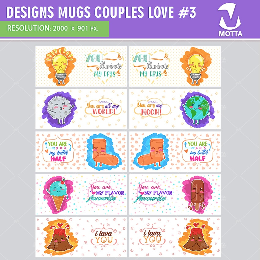 DESIGN FOR SUBLIMATION OF MUGSCOUPLES LOVE