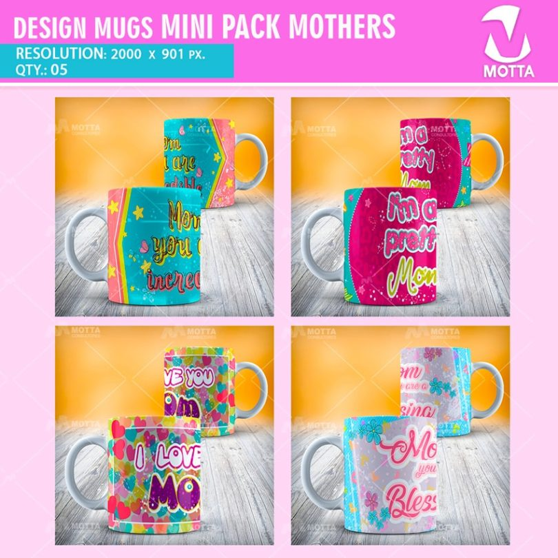 DESIGNS FOR SUBLIMATION MUGS MINI PACK MOTHERS