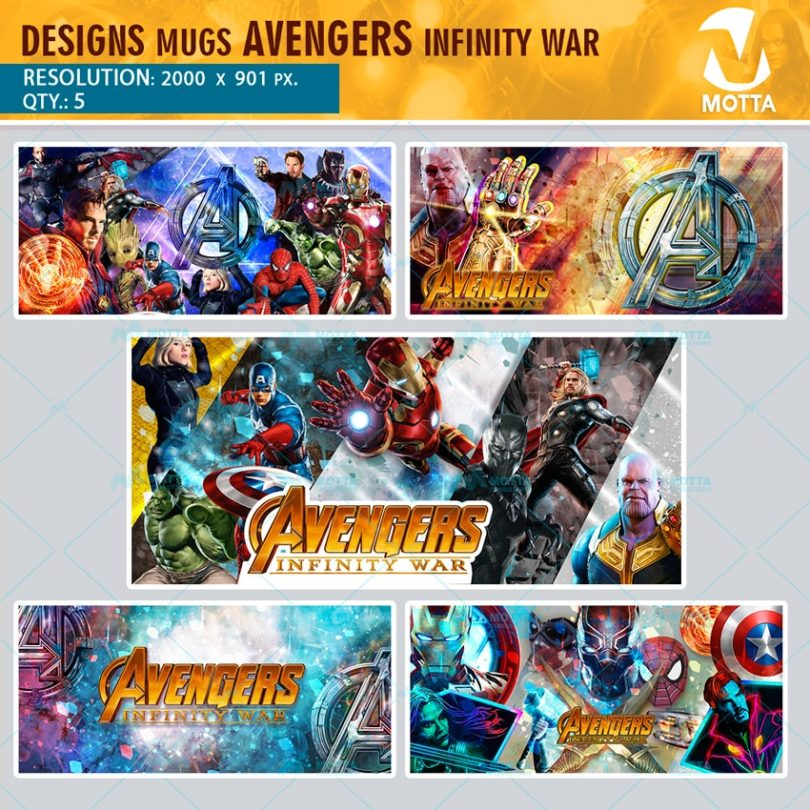 DESIGNS FOR MUGS THE AVENGERS INFINITY WAR