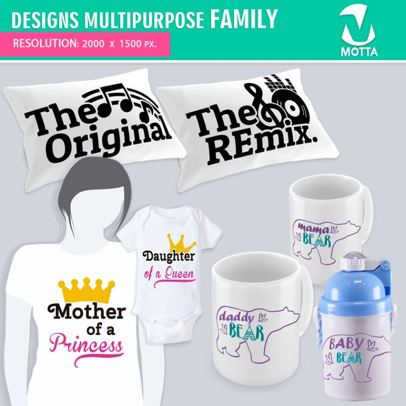 DESIGNS FOR SUBLIMATION MULTIPURPOSE FAMILY