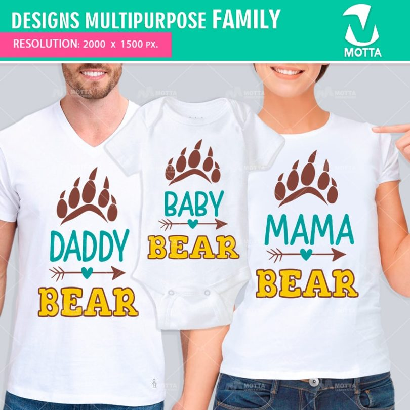 DESIGNS SUBLIMATION T-SHIRT FOR FAMILY