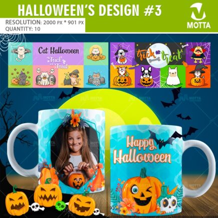 DESIGNS SUBLIMATION MUGS HALLOWEEN