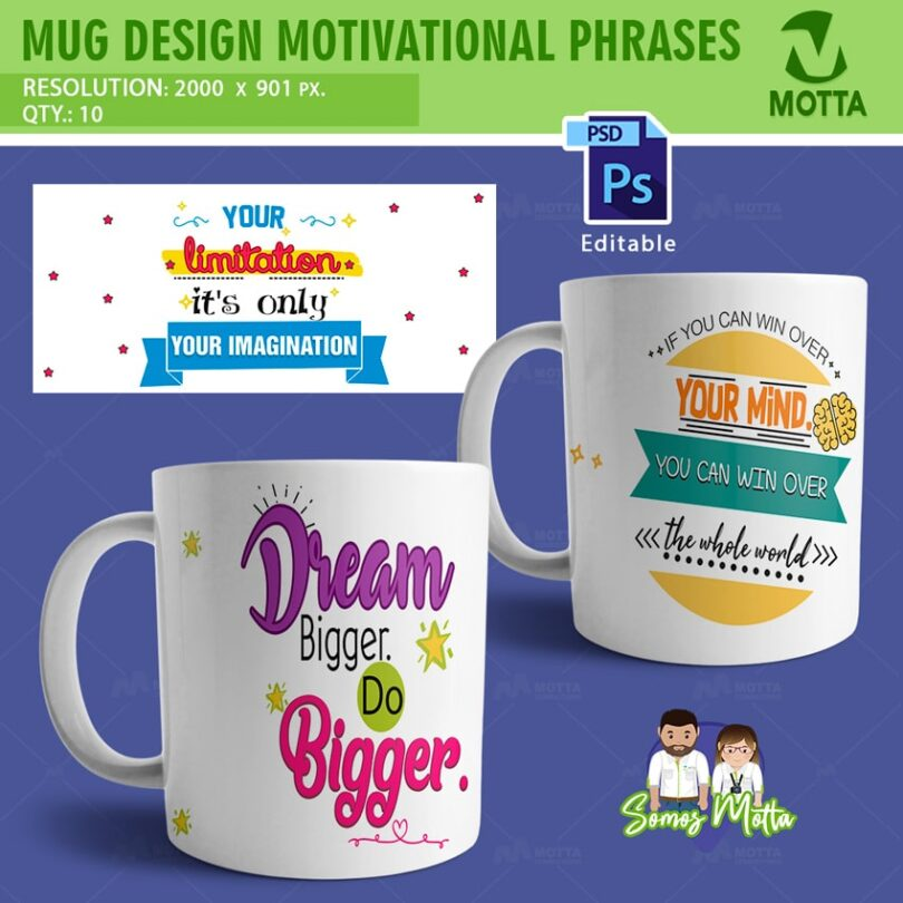 SUBLIMATION MUG DESIGNS MOTIVATIONAL PHRASES
