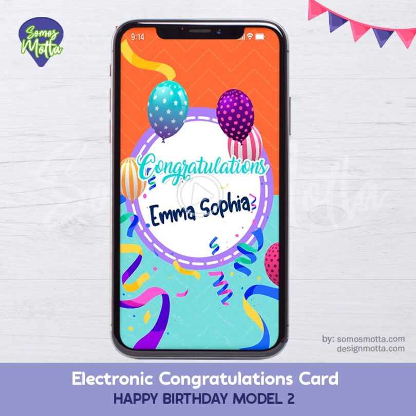 Electronic Congratulations Card Happy Birthday 2