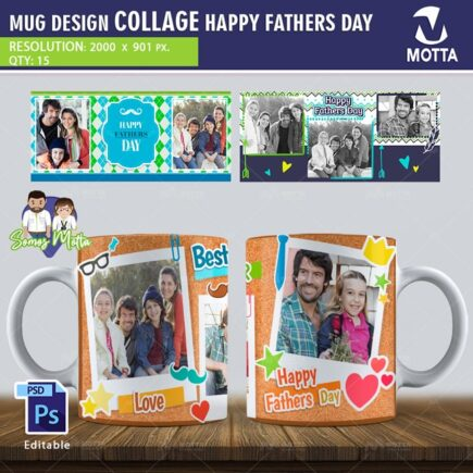 DESIGN FOR MUGS COLLAGE FATHER'S DAY