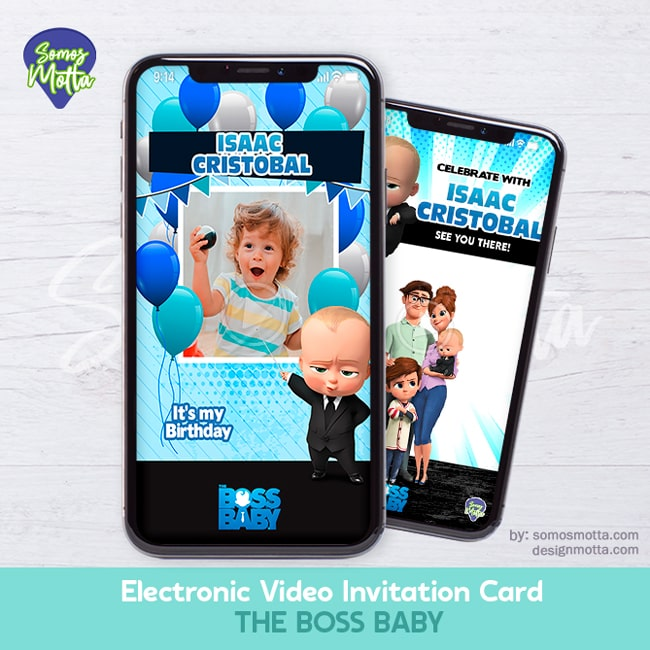 Electronic Video Card Invitation The Boss Baby