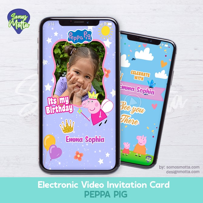 Electronic Video Card Invitation Peppa Pig