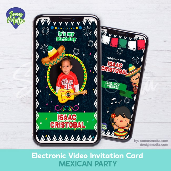 Electronic Video Card Invitation Party Mexican