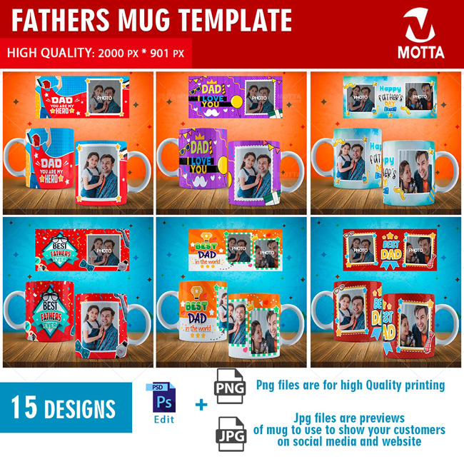 TEMPLATES FOR MUGS FATHER'S DAY