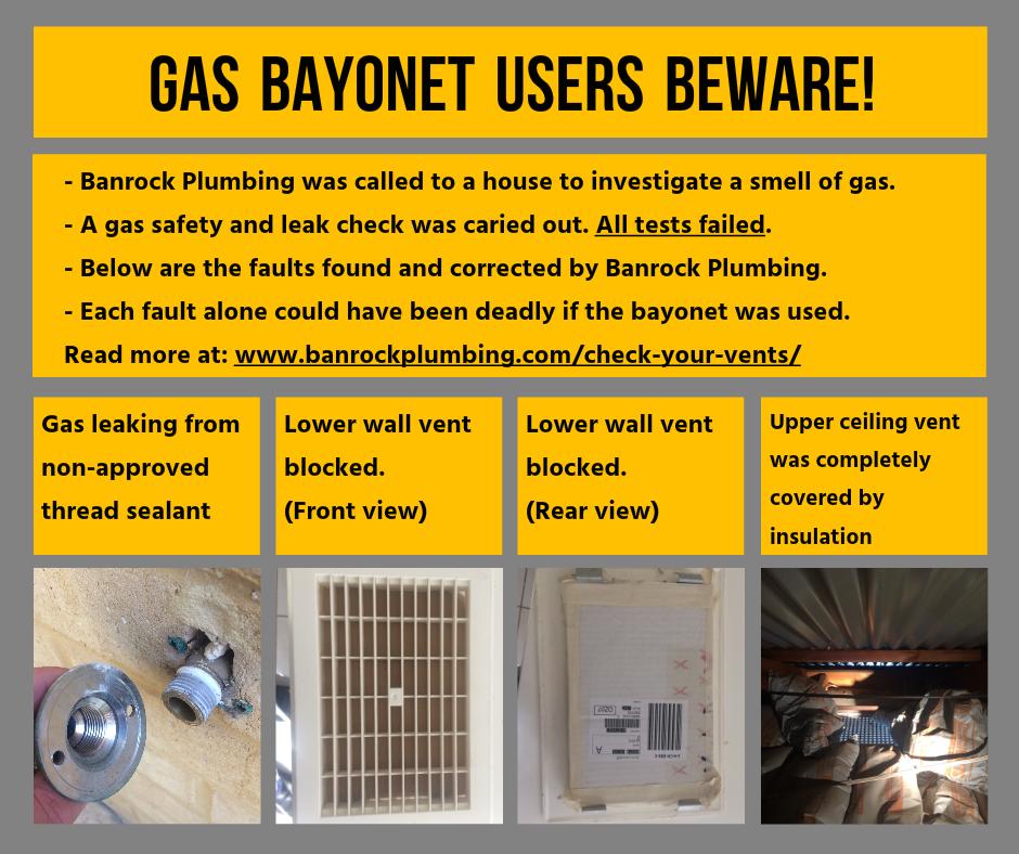 gas bayonet, vents, gas safety, plumbing, ellenbrook,