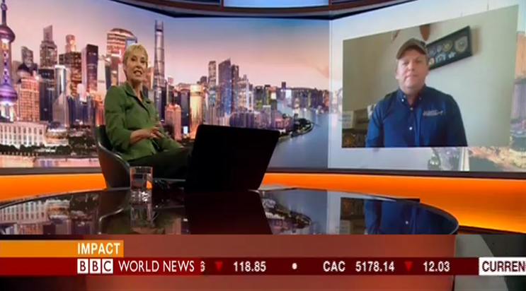 Paul Coley discusses missing woman rescued by scent kit on bbc world news