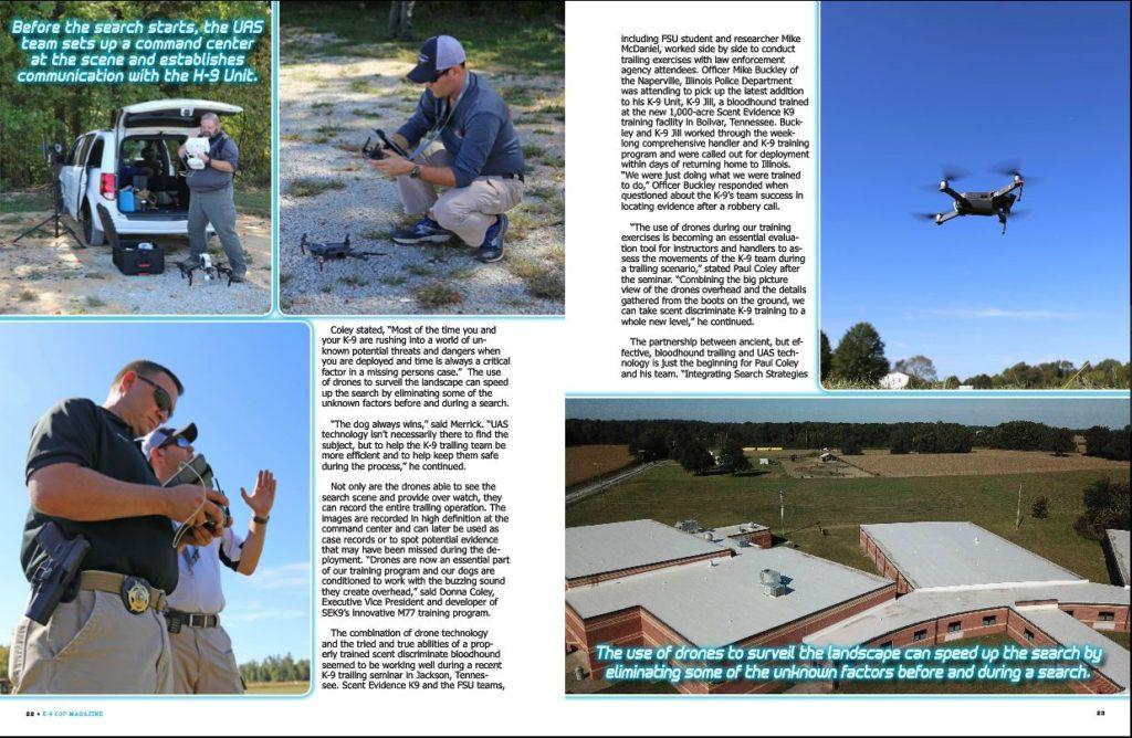 K9 Cop Scent Evidence K9 Trailing Drone Integration article