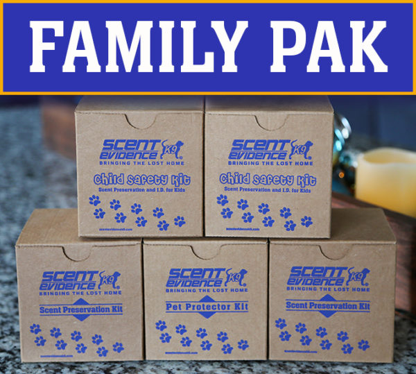 Scent Preservation Kits for the whole family!