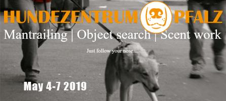 Hunderzentrum Pfalz Mantrailing and Scent Work Seminar May 4-7 2019