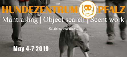 Hunderzentrum Pfalz Mantrailing and Scent Work Seminar May 4-7 2019