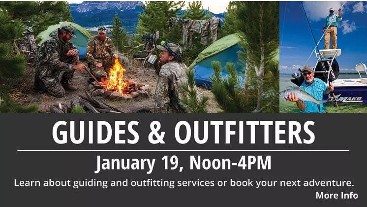 Guides & Outfitters Event at Bass Pro Shops Tallahassee Sat. Jan. 19 Noon to Four