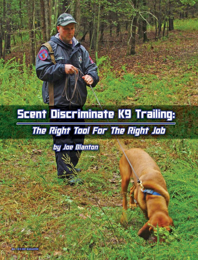 Scent Discriminate K9 Trailing-page 1