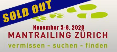 Mantrailing Zurich seminar with Paul Coley Nov 5-8 2020