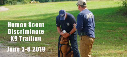 Learn the art oand science of scent discriminate K9 trailing