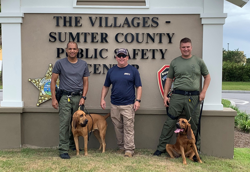 Sumter County Sheriff's Office Bloodhound Team Uses Scent to find missing child