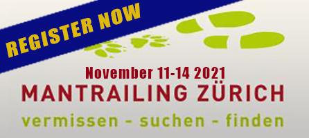 Mantrailing Zurich Seminar with Paul Coley November 11-14 2021