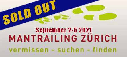 Mantrailing Zurich Seminar with Paul Coley September 2-5 2021 SOLD OUT
