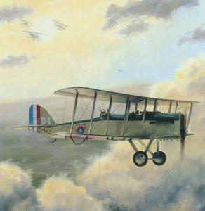 DH4 on patrol during WW1