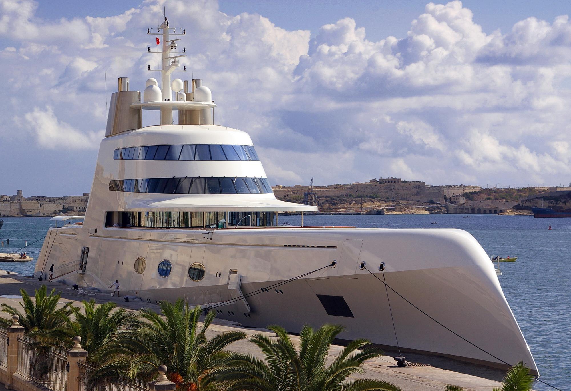 superyacht-a-docked