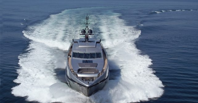 RL Noor Super yacht Bow View