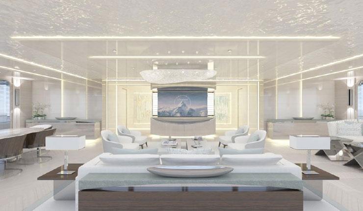 Infinity superyacht main lounge