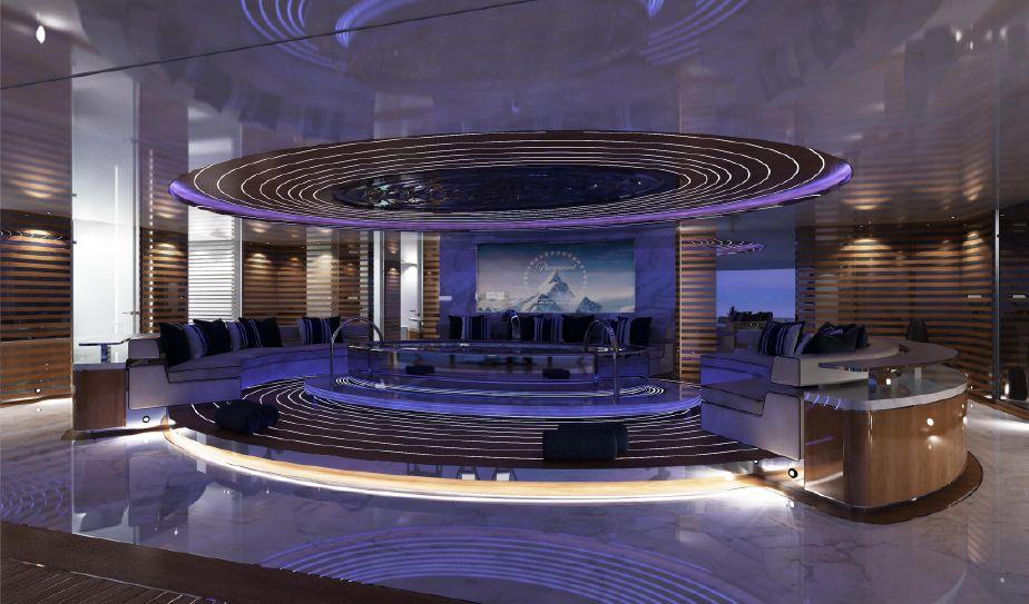 Main Lounge on Superyacht infinity