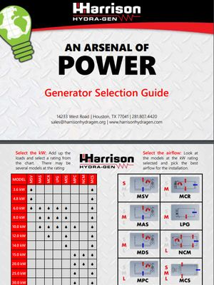 Generator Selection Guide