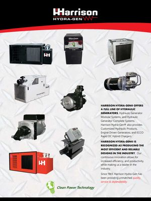 Harrison Hydraulic Generator Brochure