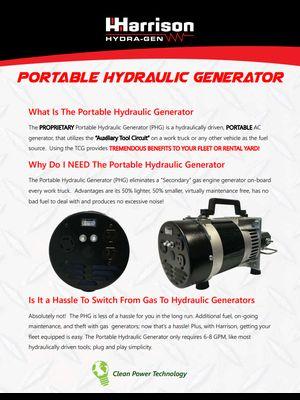 Harrison Portable Hydraulic Generator