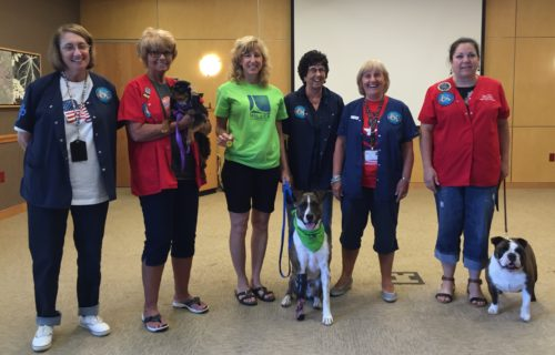 Special Thanks to Ruth DeFranco (second from left) and the testing team in Alliance Ohio for arranging our testing day. Therapy Dogs International.