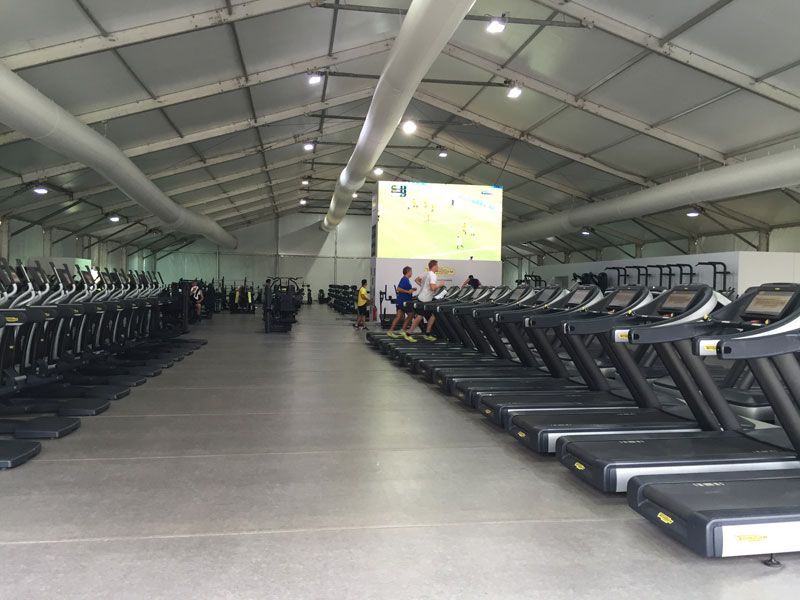 The athlete's gym in Paralympic Village.