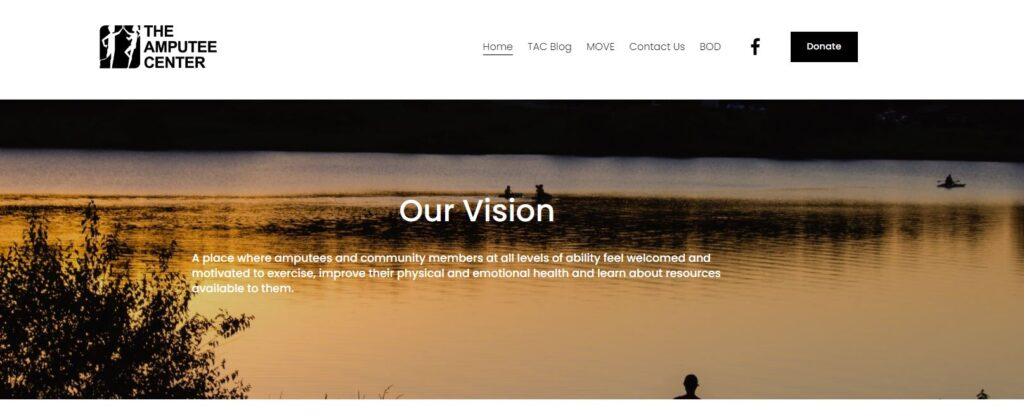 Visit www.TheAmputeeCenter.com to learn more about our new 501c3 non-profit