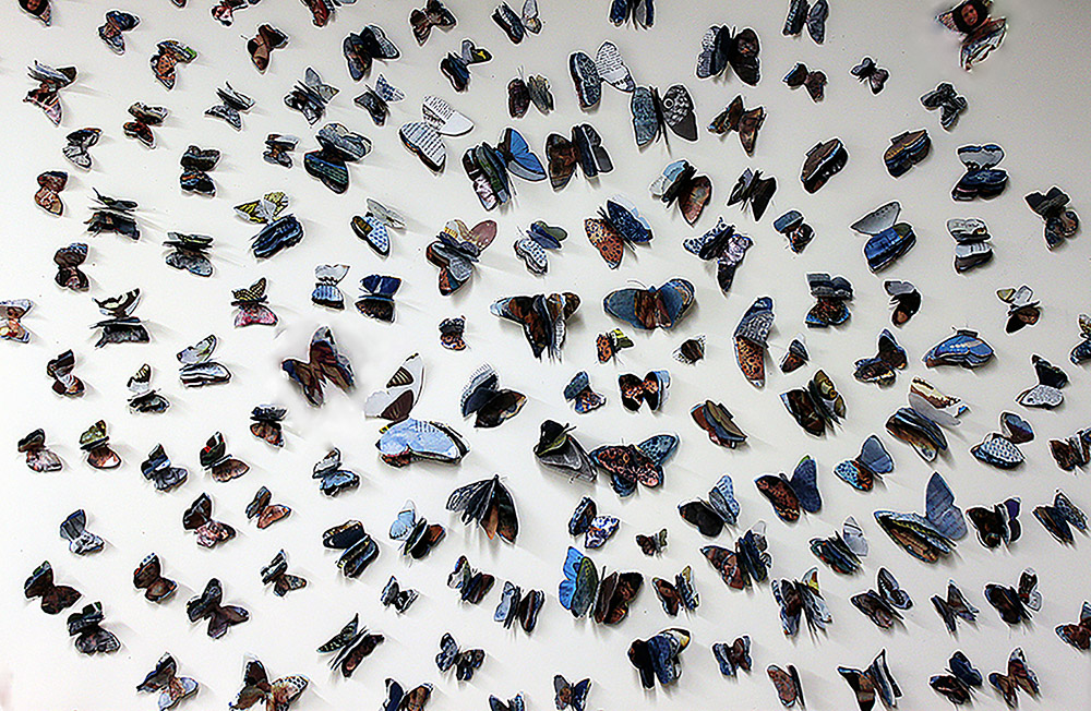 Butterfly installation, Alfons Gallery, Milwaukee, WI