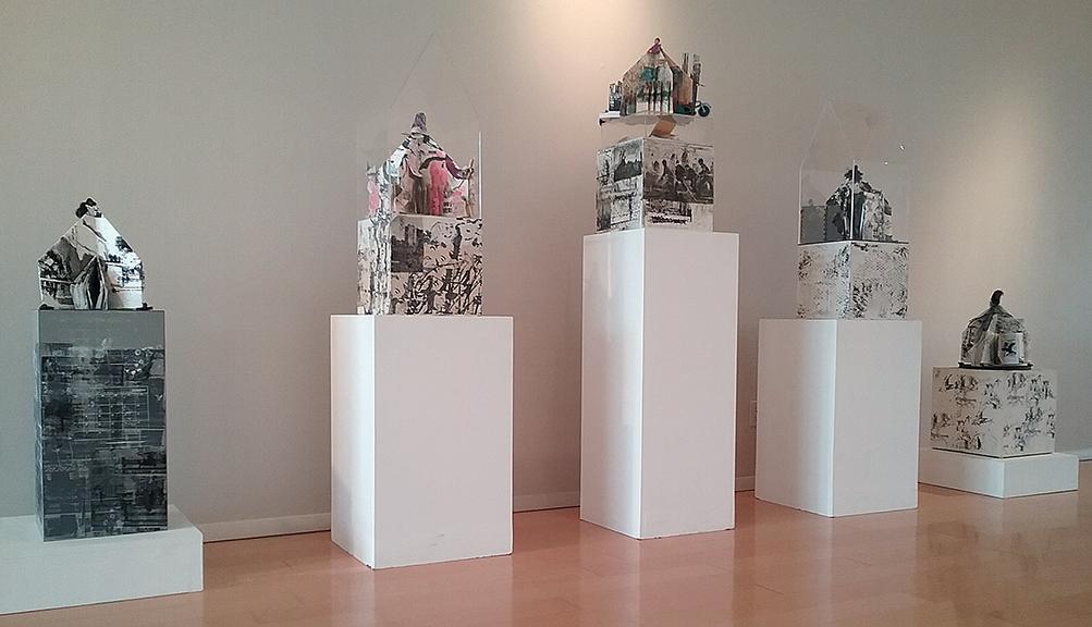 Monument Series, handmade books and vitrines