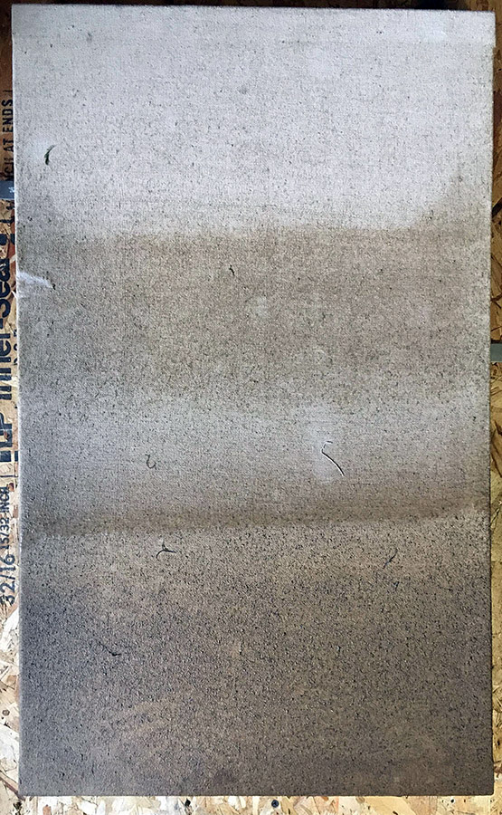 Canvas after drying.
