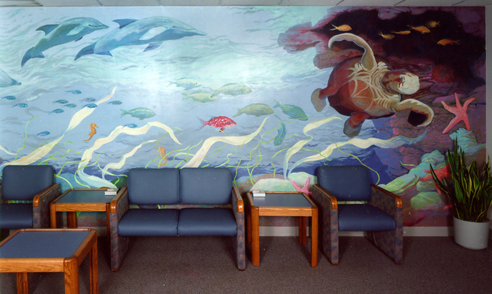 Children's Hospital of Wisconsin, commercial commission, mural painting