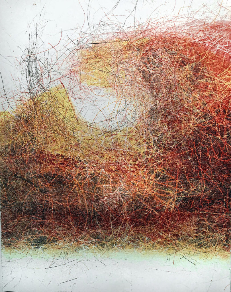 Lost Clearing I, monotype, 30x22