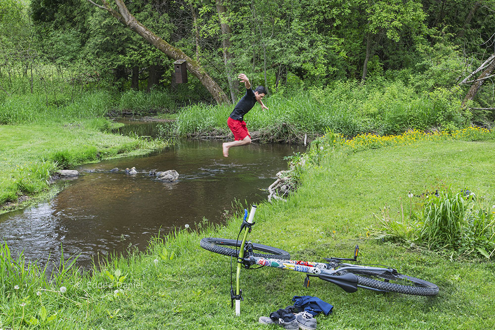 Jumping Coney Creek at Richfield Nature and Historical Park.