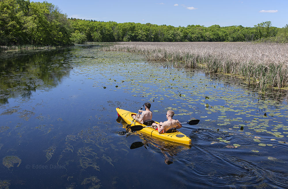 Kayaking the Oconomowoc River at Loew Lake Unit, Kettle Moraine State Forest
